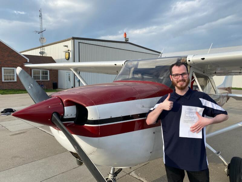Austin Adamson | Private | Pilot License | KDSM | Instructor: Ferenc Cstalos