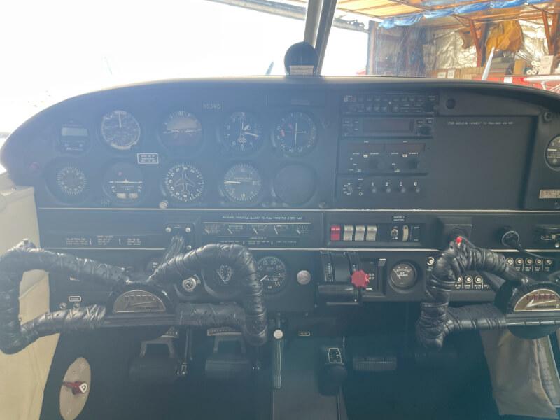 N5341S School Aircraft Instrument Panel